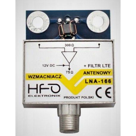 Wzmacniacz antenowy zewn. LNA-166 20dB + filtr LTE