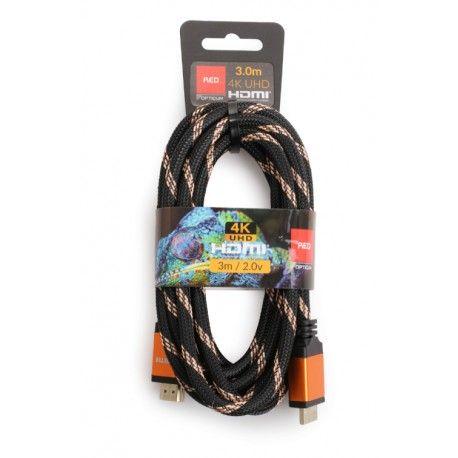 Kabel HDMI- HDMI 3m 4K UHD Red OPTICUM