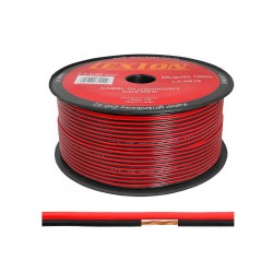 Przewód głośnikowy SMYP 2x0,50 CCA OFC czar./czerw. (100m)