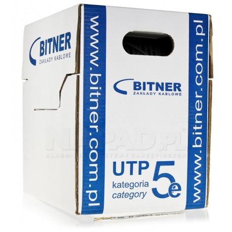 Przewód UTP kat.5E Cu BOX (305m) Blue L./Bitner