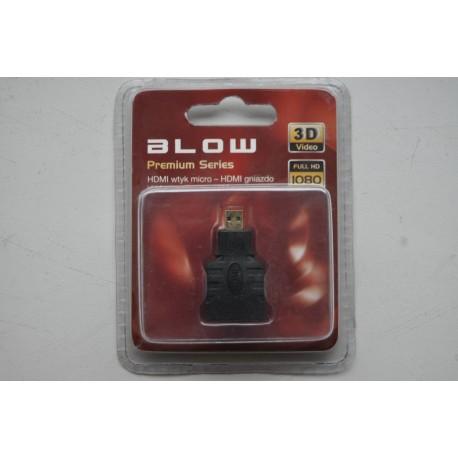 Przejście wtyk mikro HDMI - gniazdo HDMI