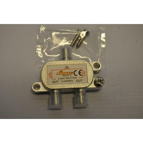 Rozgałęźnik TV-SAT 1wej/2wyj power pass SIGNAL