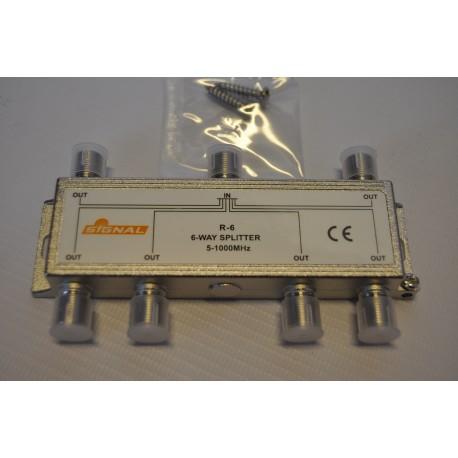 Rozgałęźnik TV R-6 /1wej/6wyj/ SIGNAL/BL