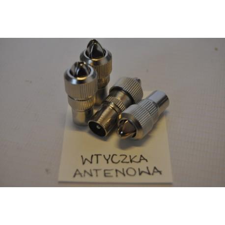 Wtyk antenowy prosty metalowy (100szt)