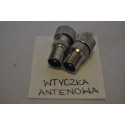 Wtyk antenowy prosty metalowy