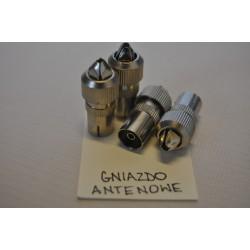 Nasadka antenowa prosta metal (100szt)