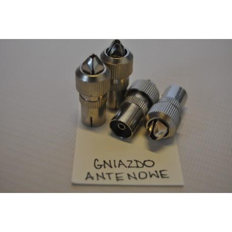 Nasadka antenowa prosta metal. (100szt)