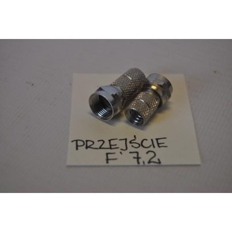 Wtyk F 7,2mm DETAL