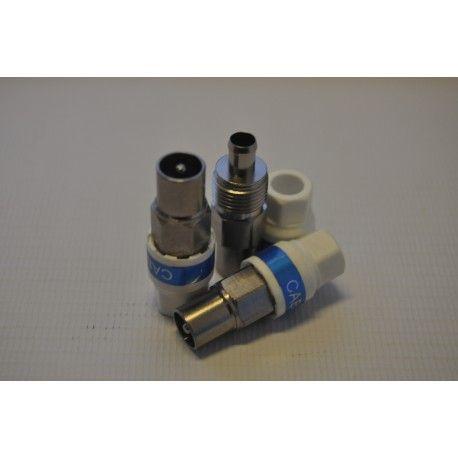 Wtyk ant. prosty IEC CABELCON (RG-6) samokompr.