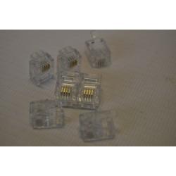 Wtyk modularny, telefoniczny RJ-11 4PIN (100szt)