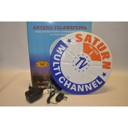 Antena zewnętrzna, ze wzmacniaczem SATURN 1 DVB-T