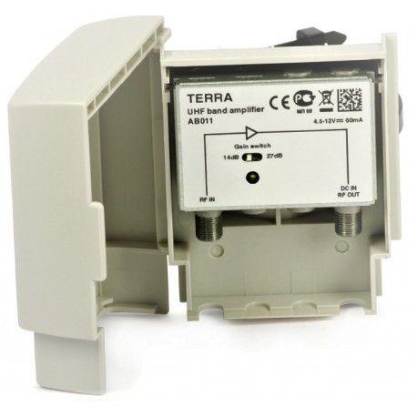 Wzmacniacz masztowy DVB-T UHF AB011 Terra 27 dB
